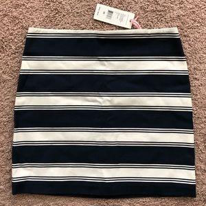 Vineyard Vines Striped Mini Skirt 00 Navy White